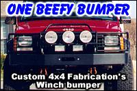 Custom 4×4 Fabrication XJ Winch Bumper