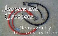 Jeepers & Creepers heavy-duty battery cables