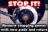 Changing disc brake rotors and pads