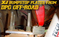 DPG Adjustable XJ Bumpstop Plates