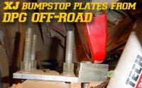 DPG Adjustable XJ Bumpstop Plates