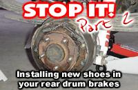 Replacing your drum brakes