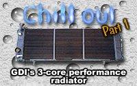 GDI XJ 3-core radiator install