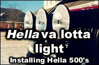 Hella 500 Series off-road lights