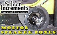 ModPods speaker boxes for your TJ
