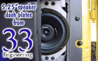 33-Engineering's 5.25″ TJ dash speaker plates
