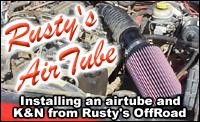 Rusty's Off-Road's Airtube and K&N cone air filter