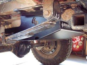 SkidRow XJ gas tank skid plate