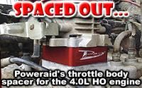 Poweraid throttle body spacer