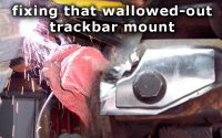 Fixing a wallowed out trackbar bracket