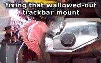 Fixing a wallowed out trackbar bracket