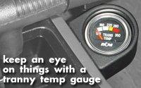 Installing a transmission temp gauge