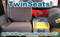 TwinSeats' split folding rear TJ seats