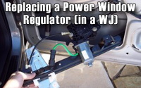 Replacing a WJ Window Regulator