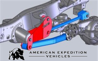 AEV Conversions' new Geometry Correction Front Control Arm Brackets for JKs