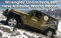 Jeep® Wrangler Unlimited Climbs Highest Volcano on Earth and Sets New Altitude World Record