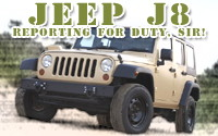 Jeep J8 – New Military Version of Jeep Wrangler Unlimited Reports for Duty