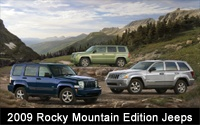 New Rocky Mountain Edition Models Add Excitement and Value to 2009 Jeep Lineup