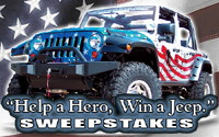 Warrior Jeep – Help a hero, win a Jeep.