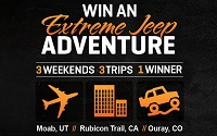 Win 3 off-roading trips in ExtremeTerrain's Extreme Jeep Adventure Contest